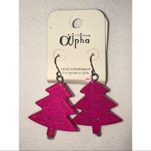 Jewelry - NEVER WORN Christmas Tree Earings